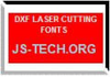 DXF LASER CUTTING FONTS 3.03