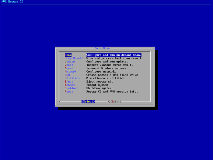 Screenshot 3 of AVG Rescue CD