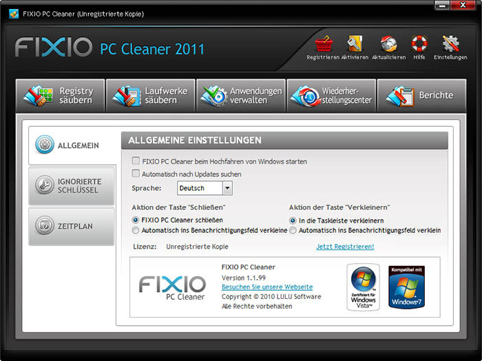 fixio pc cleaner 2011
