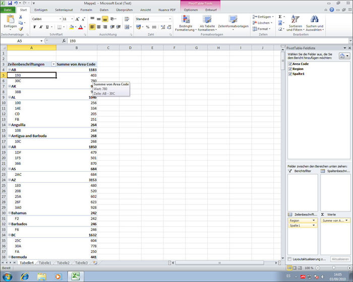 excel 2010 testversion