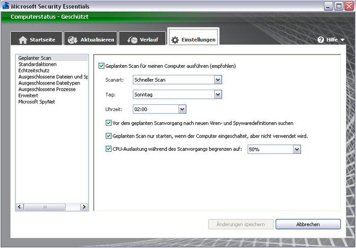 Screenshot 2 of Microsoft Security Essentials