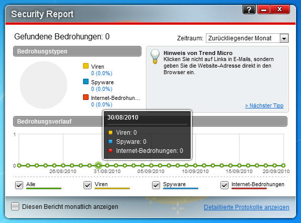 Screenshot 1 of Trend Micro Titanium AntiVirus Plus