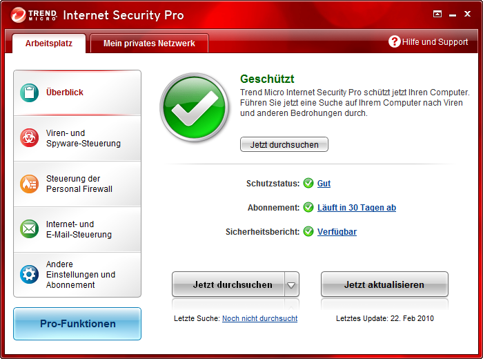 Screenshot 7 of Trend Micro Titanium Maximum Security