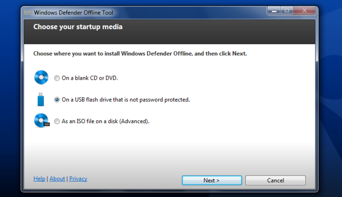 Screenshot 1 of Windows Defender Offline