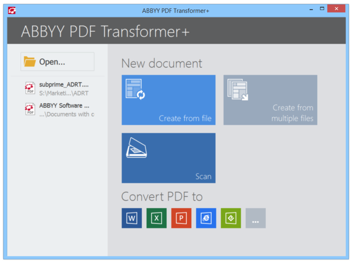 Screenshot 2 of ABBYY PDF Transformer