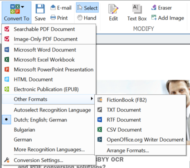 Screenshot 7 of ABBYY PDF Transformer