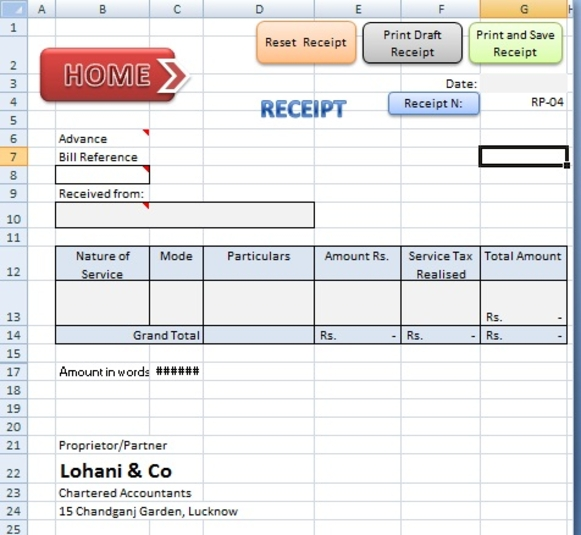 Screenshot 3 of ABCAUS Excel Accounting Template