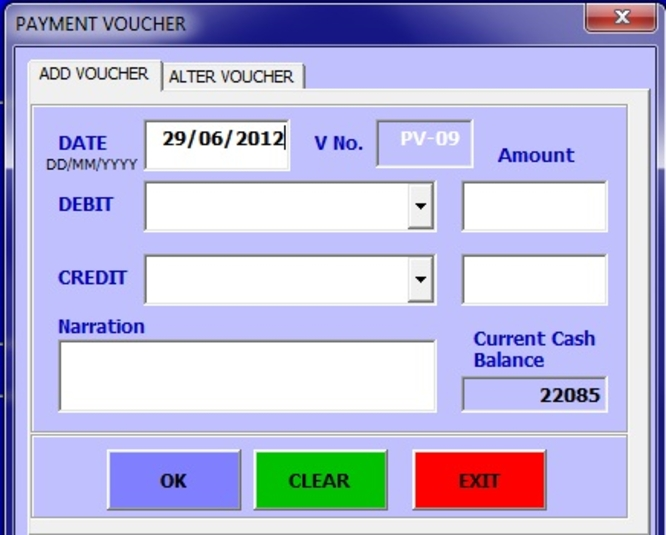 Screenshot 2 of ABCAUS Excel Accounting Template