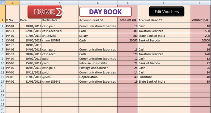 Screenshot 7 of ABCAUS Excel Accounting Template