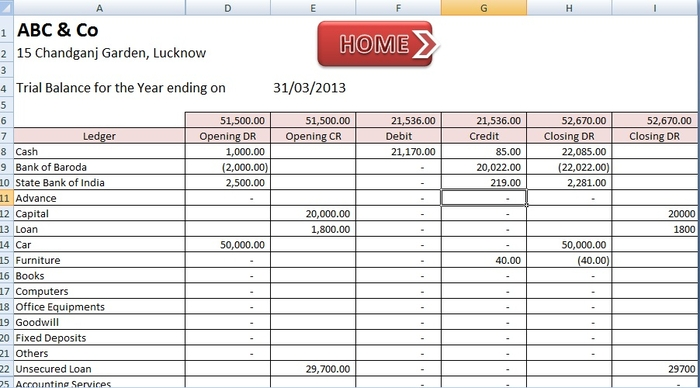 Screenshot 9 of ABCAUS Excel Accounting Template