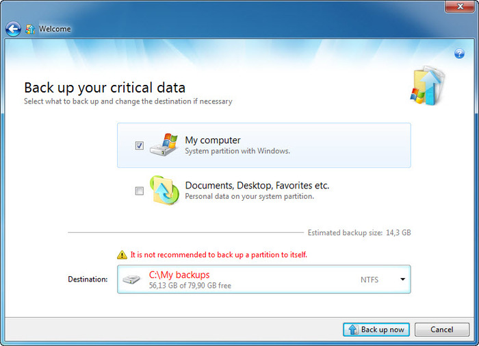 Screenshot 3 of Acronis Backup and Security