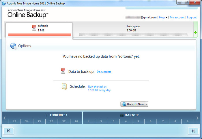Screenshot 5 of Acronis Backup and Security