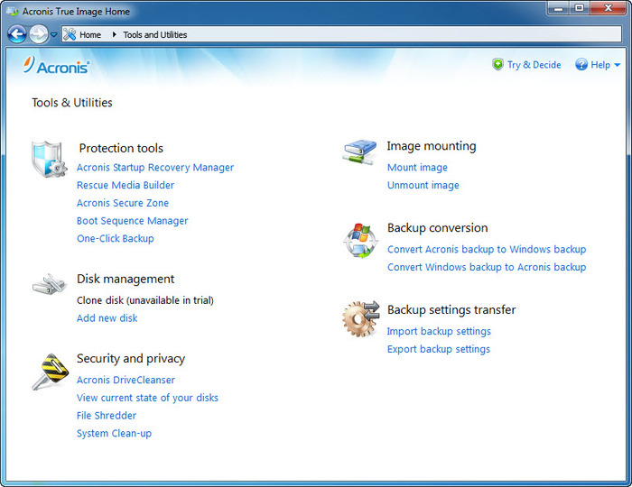 Screenshot 2 of Acronis Backup and Security