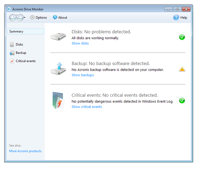 Screenshot 3 of Acronis Drive Monitor