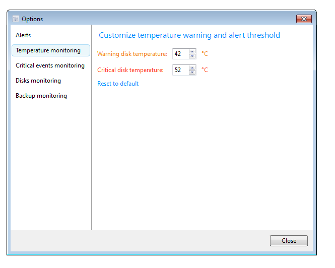 Screenshot 2 of Acronis Drive Monitor