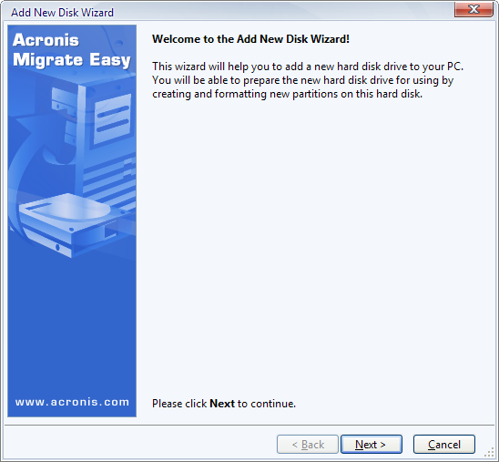 Screenshot 1 of Acronis Migrate Easy