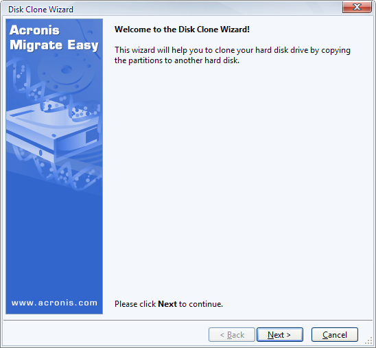 Screenshot 2 of Acronis Migrate Easy