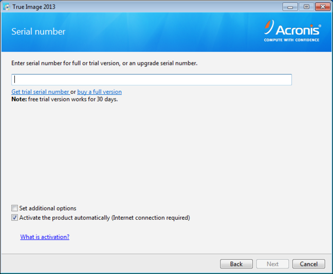 Screenshot 1 of Acronis True Image