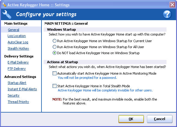 Screenshot 5 of Active Keylogger Home