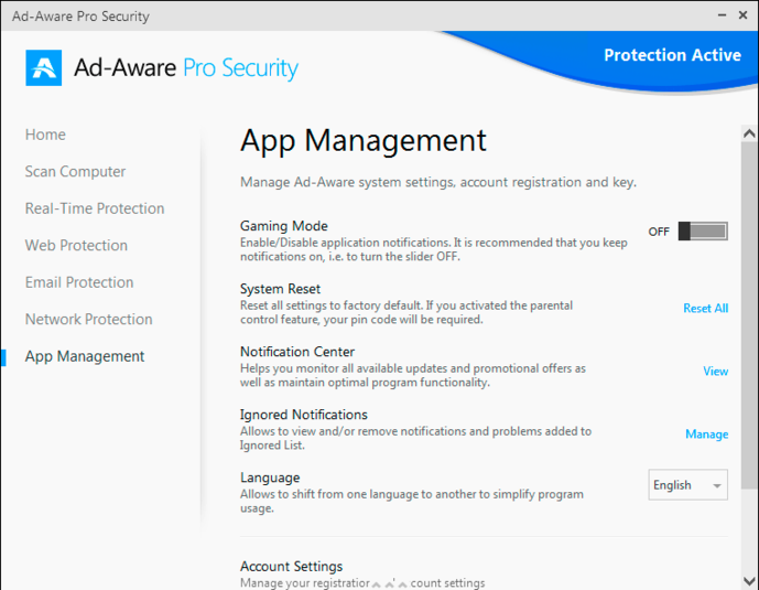 Screenshot 1 of Ad-Aware Pro Security