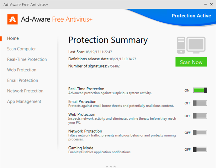 Screenshot 1 of Adaware Antivirus Free