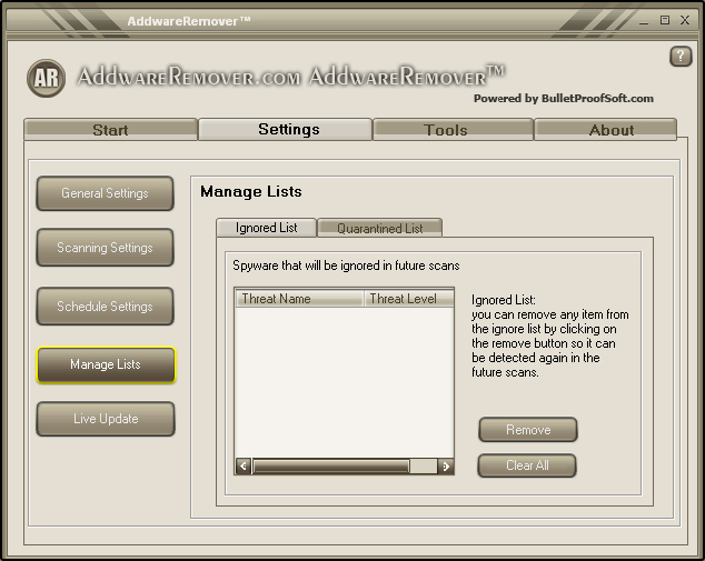 Screenshot 1 of Addware Remover