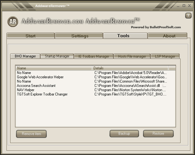 Screenshot 2 of Addware Remover