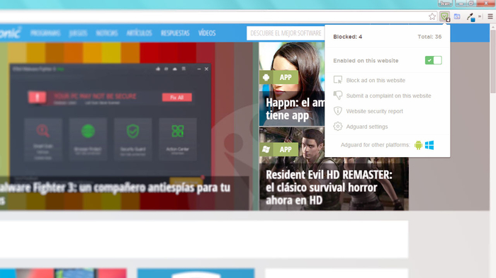 Screenshot 2 of Adguard AdBlocker