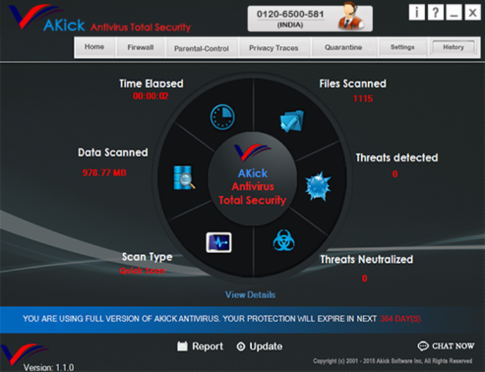 Screenshot 1 of AKick Antivirus Total Security