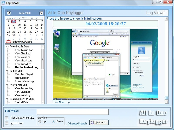 Screenshot 2 of All-In-One Keylogger