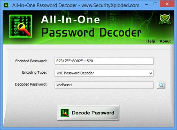 Screenshot 1 of All In One Password Decoder