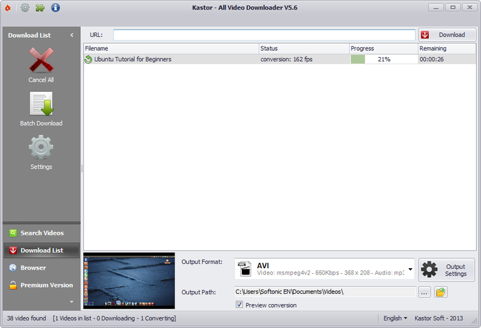 kastor all video downloader français