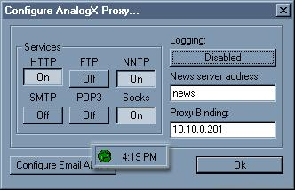 Screenshot 1 of AnalogX Proxy