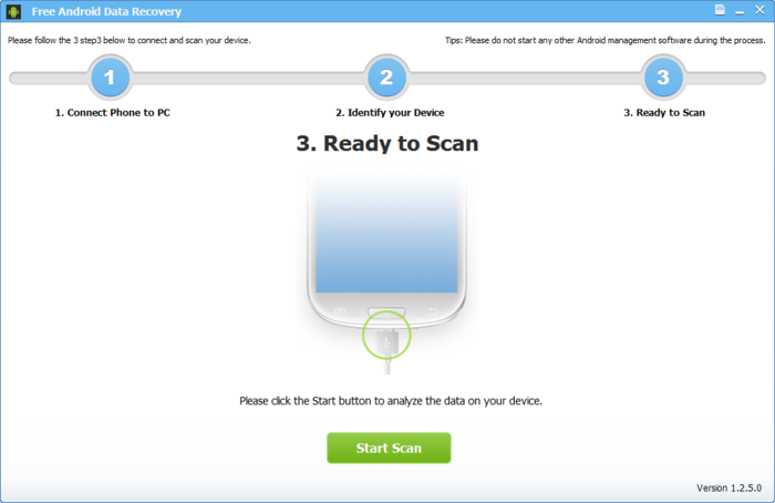 Screenshot 1 of Free Android Data Recovery