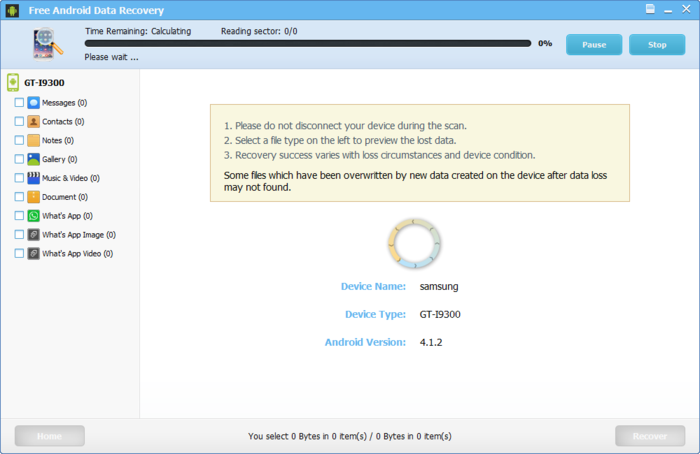Screenshot 3 of Free Android Data Recovery