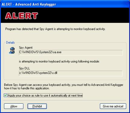 Screenshot 3 of Anti-keylogger