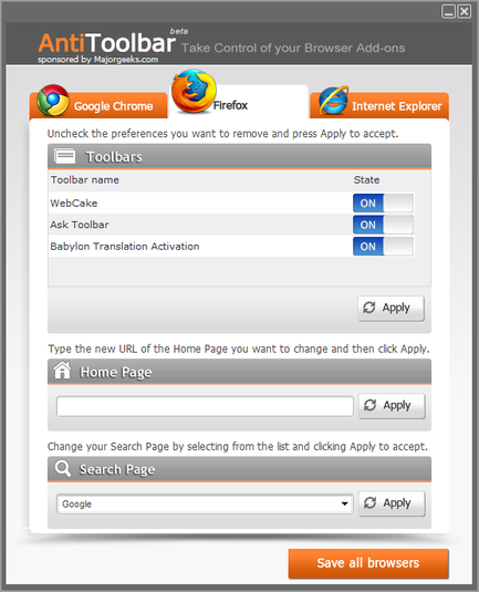Screenshot 2 of Anti-Toolbar
