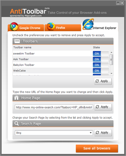 Screenshot 1 of Anti-Toolbar