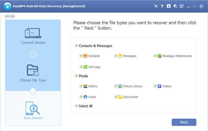 Screenshot 4 of AnyMP4 Android Data Recovery