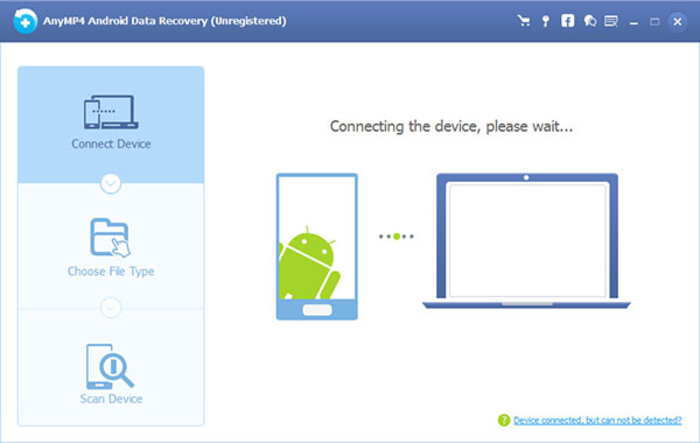 Screenshot 1 of AnyMP4 Android Data Recovery