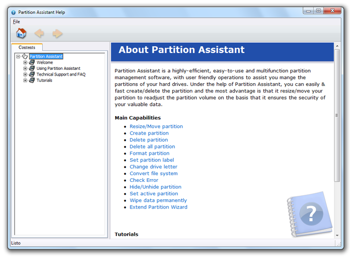 Screenshot 2 of Aomei Partition Assistant