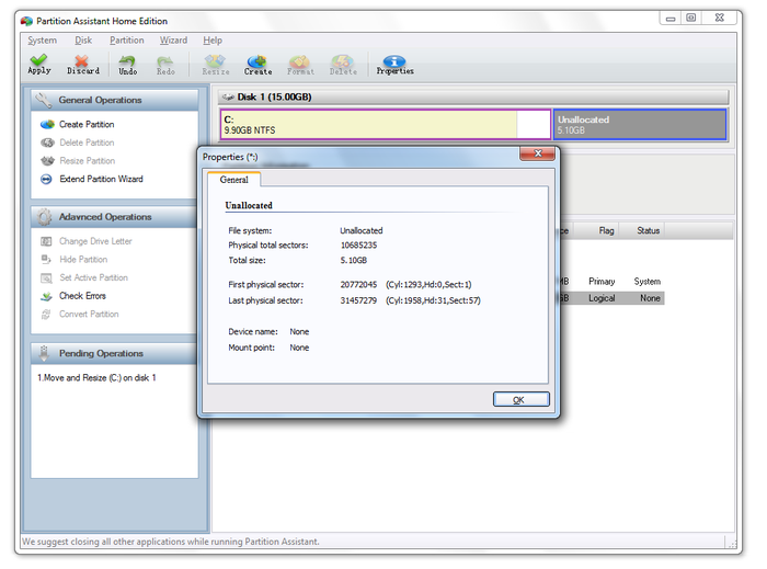 Screenshot 8 of Aomei Partition Assistant