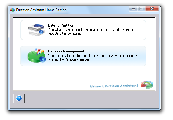 Screenshot 1 of Aomei Partition Assistant