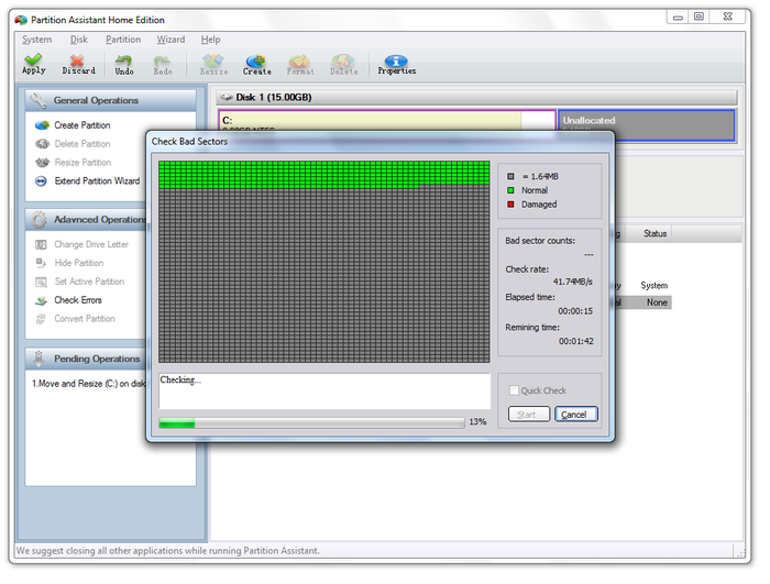 Screenshot 7 of Aomei Partition Assistant