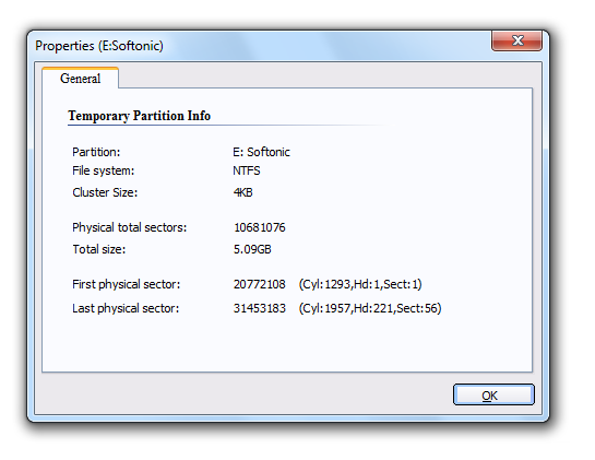 Screenshot 5 of Aomei Partition Assistant