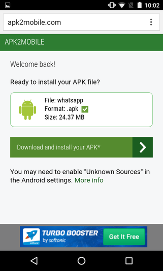 Screenshot 6 of APK2Mobile