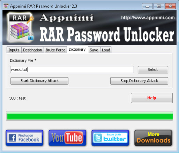 Screenshot 2 of Appnimi RAR Password Unlocker