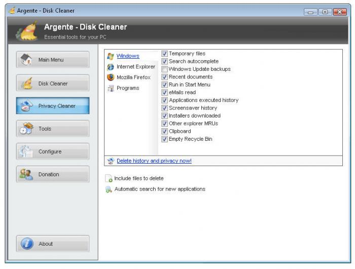 Screenshot 1 of Argente - Disk Cleaner
