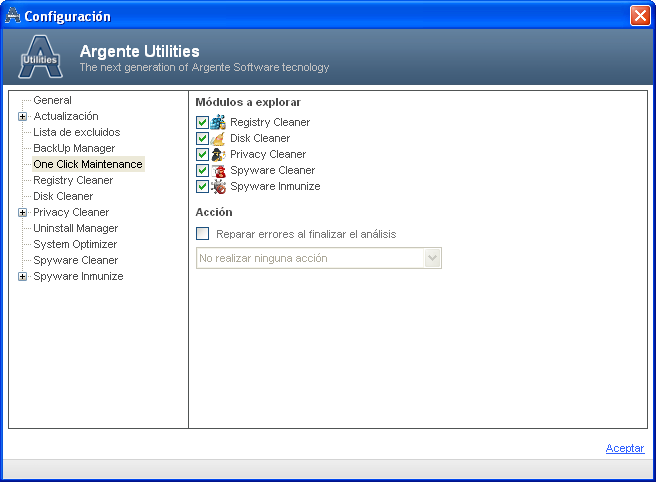 Screenshot 4 of Argente Utilities Portable