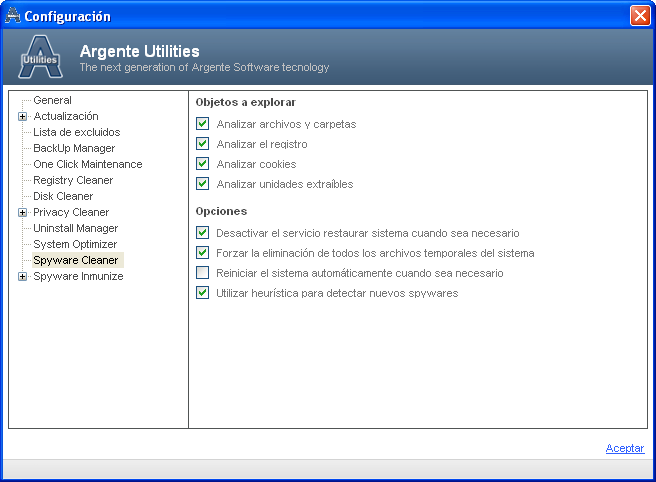 Screenshot 6 of Argente Utilities Portable